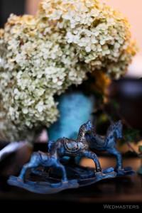 Dekoro arkliukai ir hortenzijos